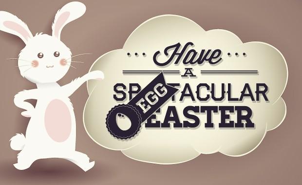 Easter typographic elements Freebies joy