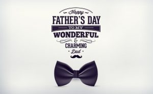 Father's day typographic elements Freebies label