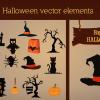 Halloween vector Elements halloween flat vector elements small