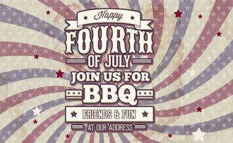 Independence day typographic elements Freebies american