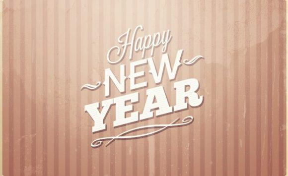 New year's eve typographic elements Freebies typography