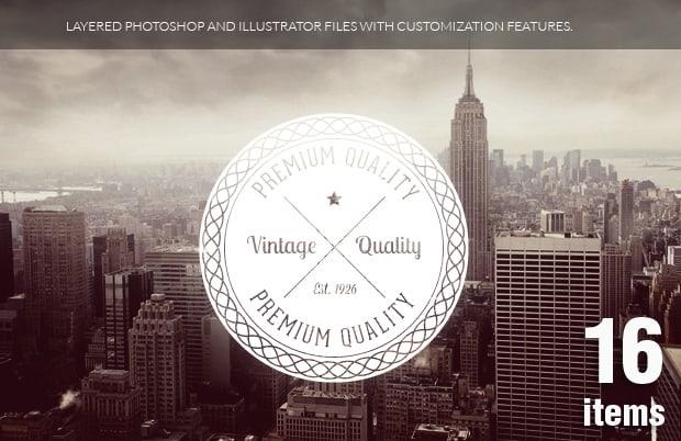 Retro Badges Vol 2 Vector packs vector