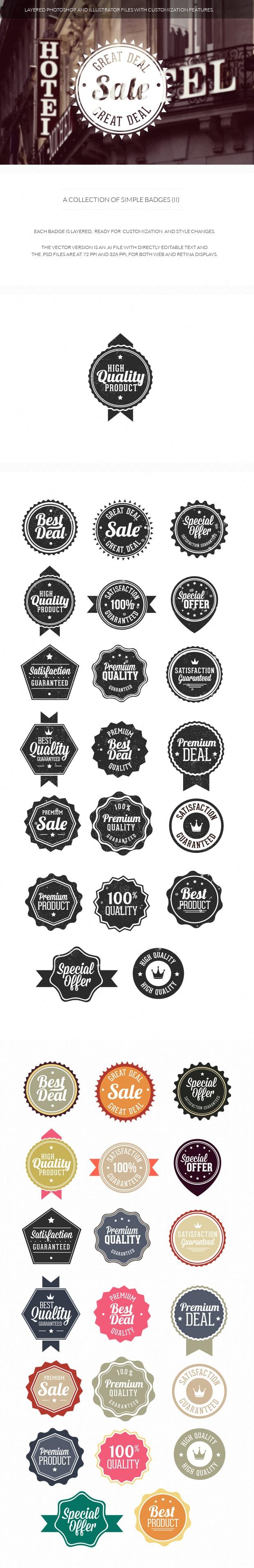 Simple badges set 2 simple 2
