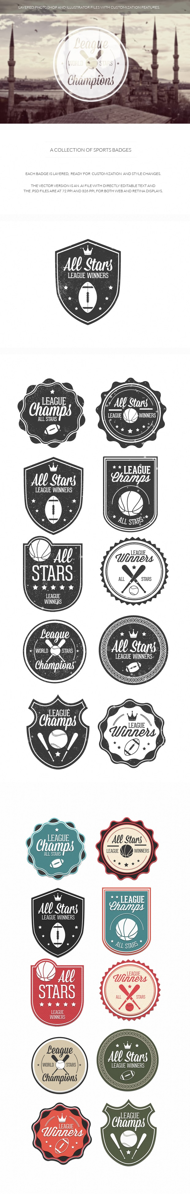 Sports Badges Vol 1 10