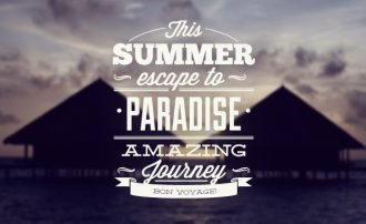 Summer typographic elements Freebies summer