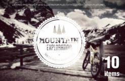 Travel elements set 1 Freebies mountain