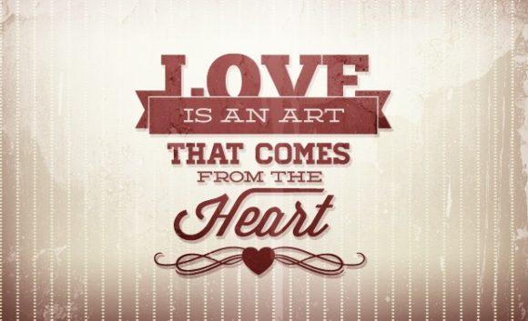 Valentine's day typographic elements Freebies heart