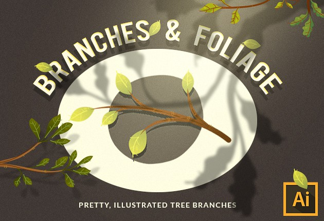 Branches Vector Set Vector packs leaf