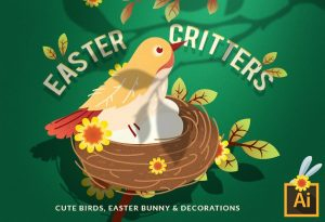 Easter Vector Set Vector packs vector