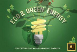 Eco & Green Energy Vector Set Vector packs vector