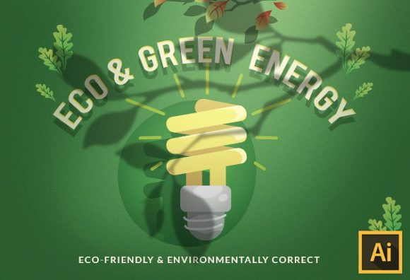Eco & Green Energy Vector Set Vector packs vector