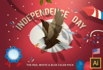 Independence Day Vector Set Vector packs leaf