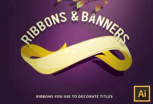 Ribbons Vector Set vector ribbons 2