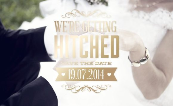 Free Wedding Typographic Elements 5
