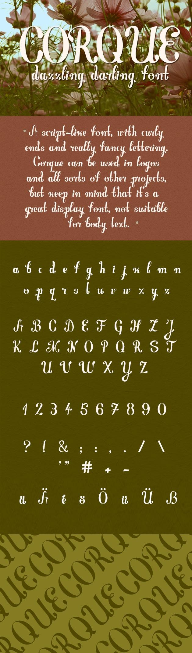 Corque Font Corque preview large