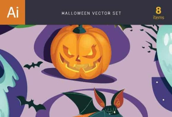 Halloween Vector Set Vector packs vector