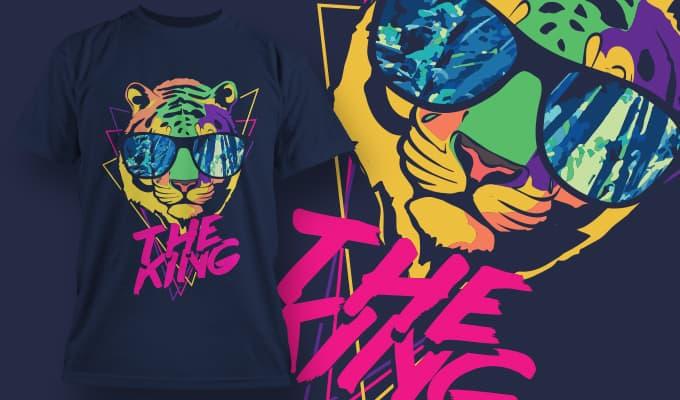 T-Shirt Design 1351 T-shirt designs and templates vector