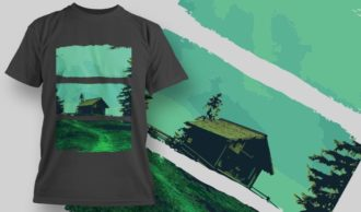 T-Shirt Design 1358 T-shirt Designs and Templates vector