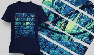 T-Shirt Design 1361 T-shirt Designs and Templates vector