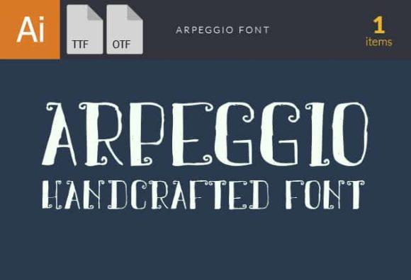 Arpeggio Font Fonts font