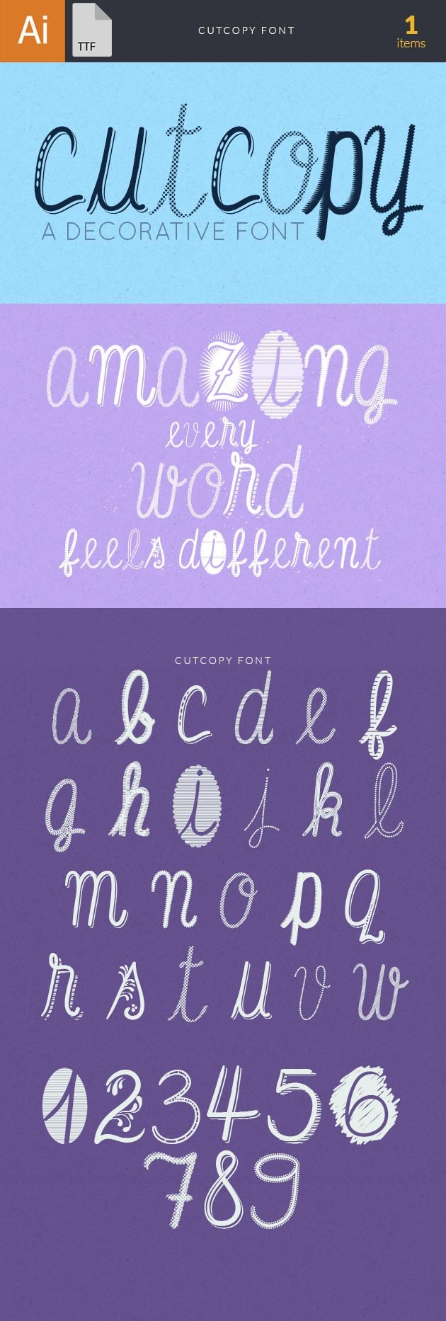 CutCopy Font fonts cutcopy large