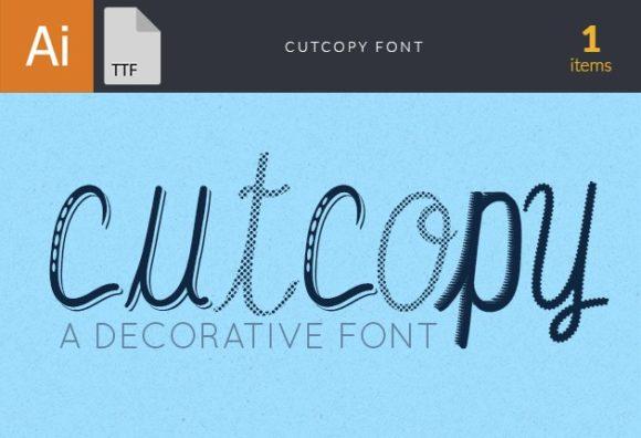 CutCopy Font fonts cutcopy small