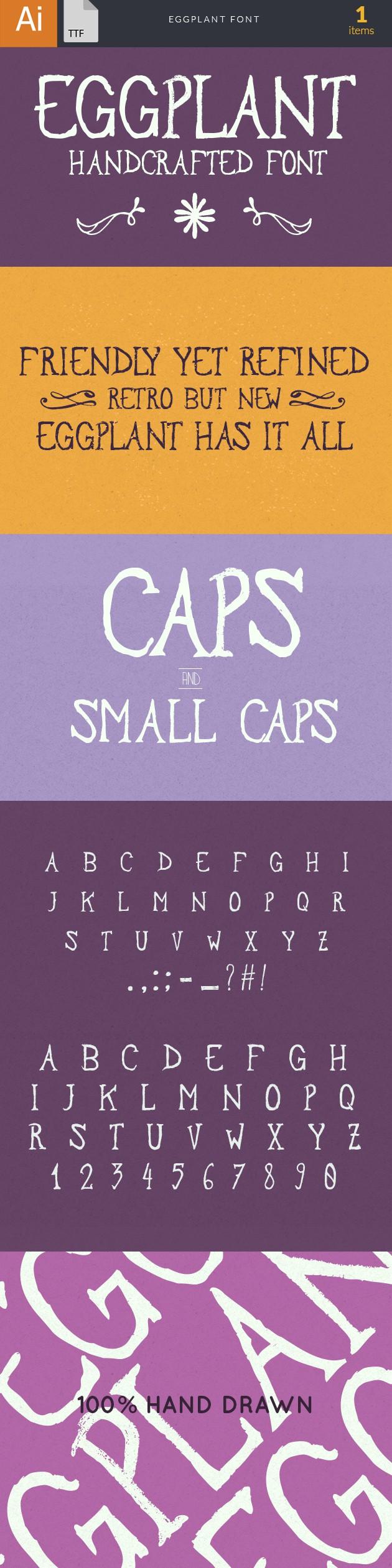 Eggplant Font fonts eggplant large