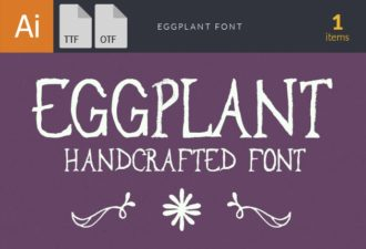 Eggplant Font Fonts font