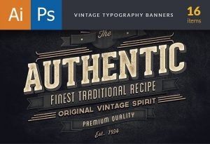 Vinatge Typography Banners Freebies vintage