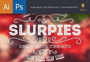 Vintage Decorative Typography Freebies decorative