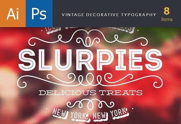 Vintage Decorative Typography preview decorative large copy