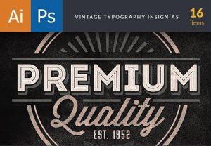 Vintage Typography Insignias Freebies vintage