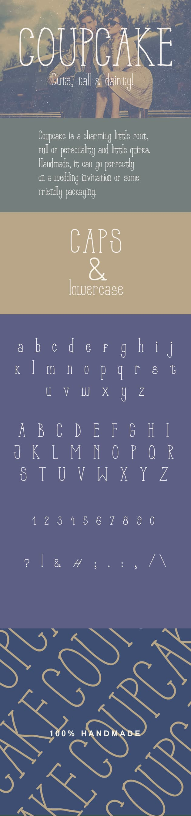 Coup Cake Font preview large 4