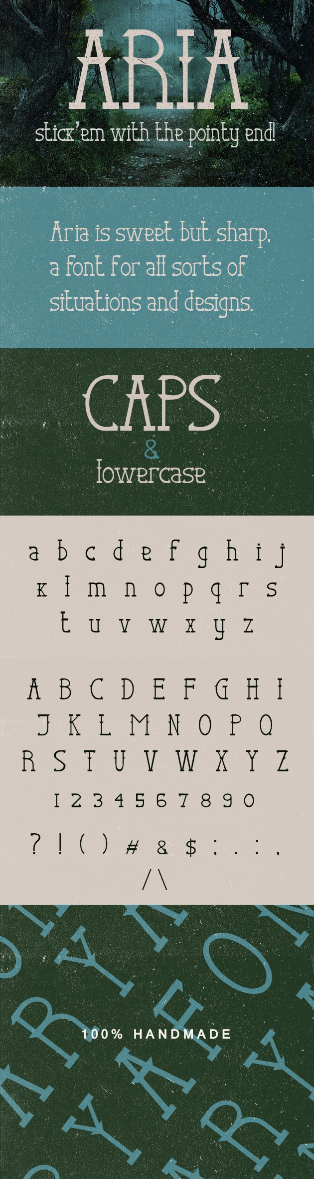 Aria Font preview large