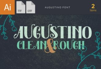 Augustino Font Family Fonts font