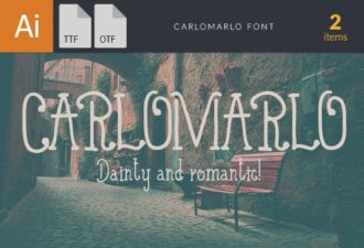 CarloMarlo Font Fonts font