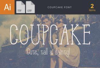 Coup Cake Font Fonts font