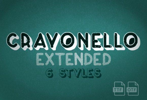 Crayonello Font preview small 5