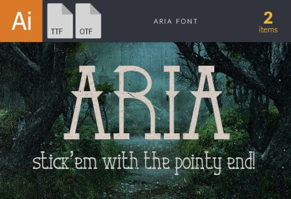 Aria Font preview small
