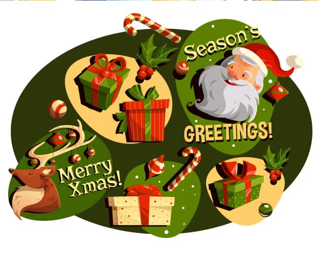Christmas Vector Set vector christmas preview large