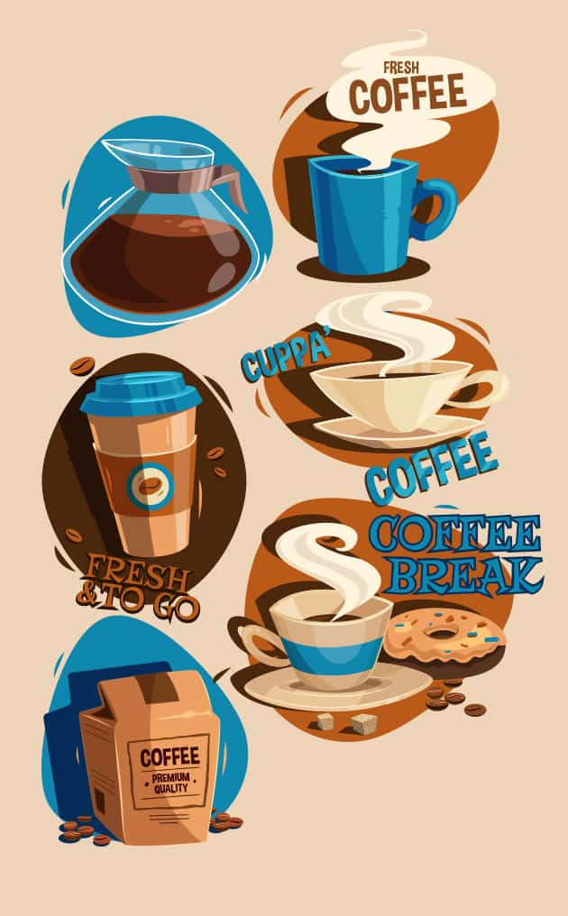 Coffee Vector Set vector coffee preview large