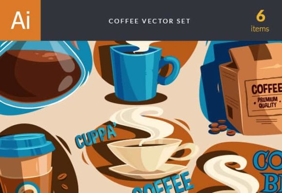 Coffee Vector Set vector coffee preview small