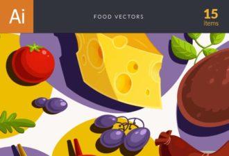 Food Vector Set Vector packs vector