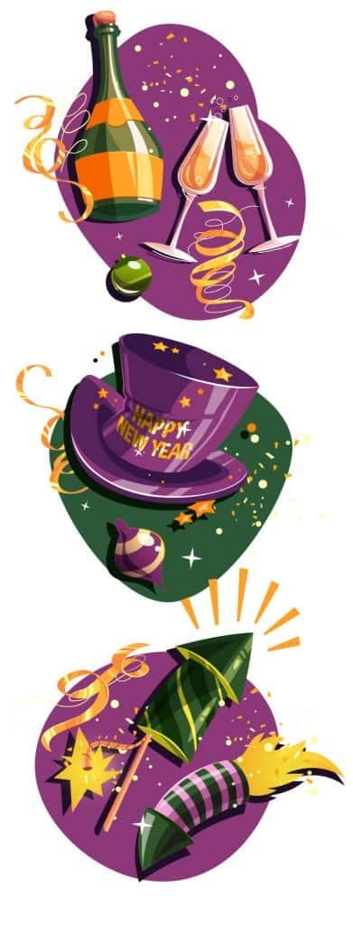 New Year's Eve Vector Set 2