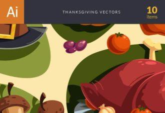 Thanksgiving Vector Set Vector packs leaf