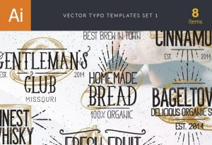 Vector Typography Templates Set 1 Freebies typography