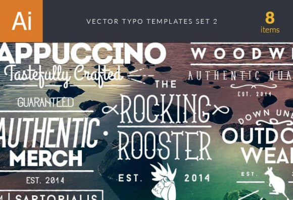 Vector Typography Templates Set 2 Freebies authentic