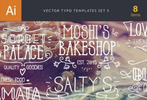 Vector Typography Templates Set 5 Freebies typography