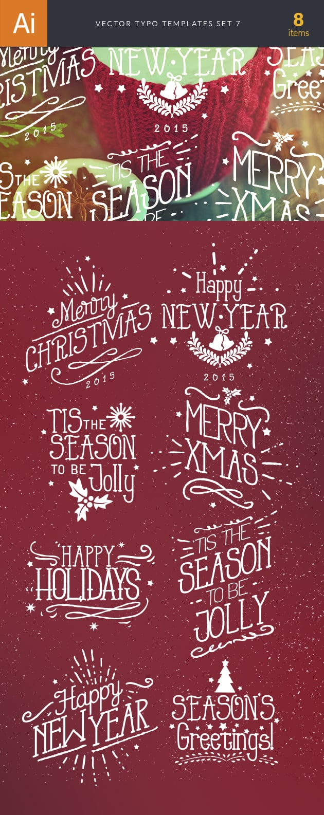 Vector Typography Templates Set 7 vector typography templates 7 preview large