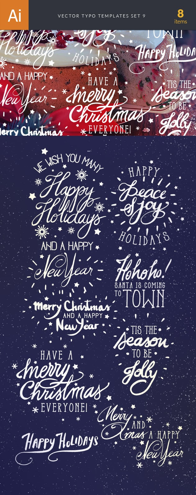 Vector Typography Templates Set 9 vector typography templates 9 preview large